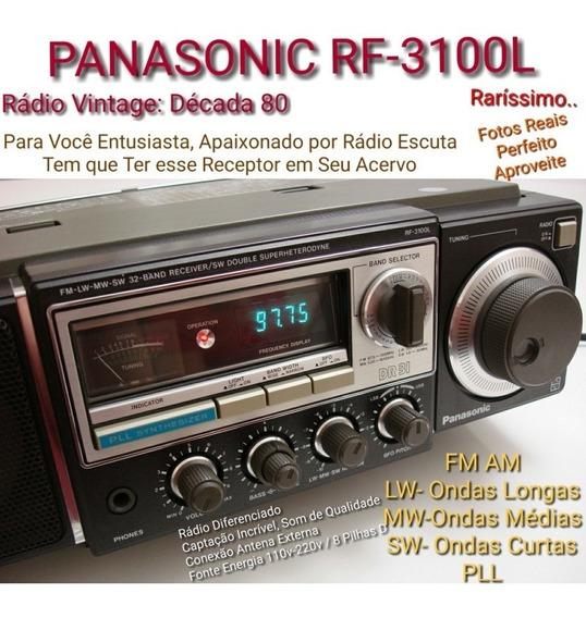 Rádio Década 80 Vintage Panasonic Rf-3100l Oc Fm Am Raridade