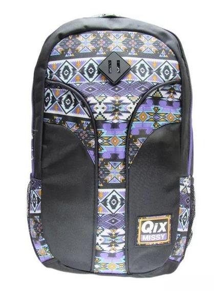 Mochila Notebook Qix Missy Preta - Qix