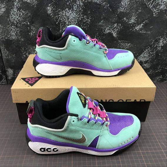 Zapatillas Nike Acg Dog Mountain 36-45 Verde Y Morado 2019