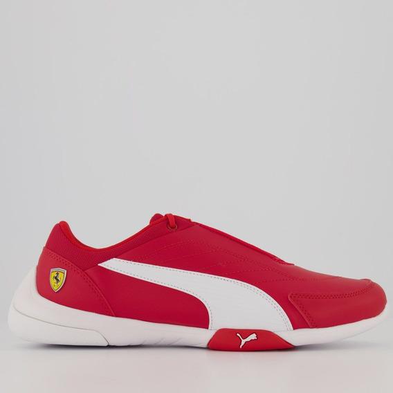 Tênis Puma Scuderia Ferrari Kart Cat Iii Vermelho E Branco