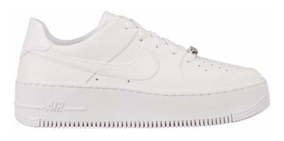Zapatillas Nike Air Force.1 Sage Low Plathaform White Mujer.