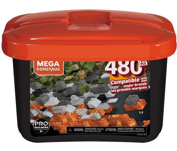 Blocos De Montar Mega Construx Pro Builders 480 Peças