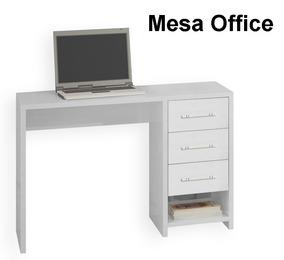 Módulo Mesa Office 100%mdf 1,08m Modulad Roma Bianchi Móveis