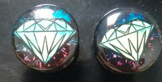 Par De Alargadores Diamante 16mm Rosca