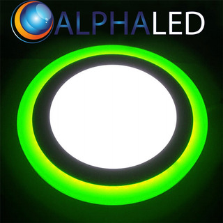 Panel Bicolor Led 24w Alphaled Redondo Embutir