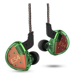 Auricular In Ear De Alta Fidelidad Kz Es4 / Green
