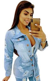 Jaqueta Jeans Sobretudo Parka Desfiada - Lançamento 2019