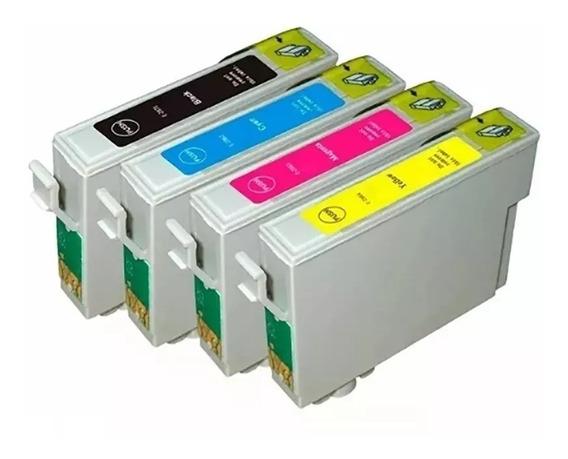 Pack 4 Cartuchos Para Epson Xp211,201,101,401, Xl . Mesirve