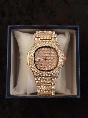 Relógio Iced Banhado A Ouro 18k - Iced Out