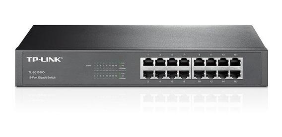 Switch Tp-link 16 Portas Gigabit - Tl-sg1016d