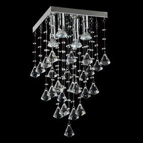 Lustre Star Plafon Adornos Em Acrílico Alto Brilho - Cristal