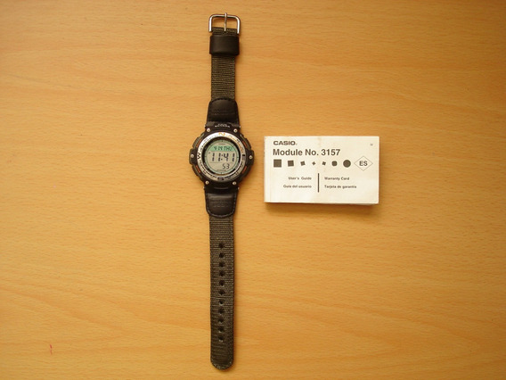 Reloj Casio Sgw100 Negro Brujula Digital Cronometro Termomet