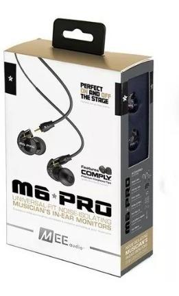 Fone Headphone In-ear Mee Audio M6 Pro G2 Retorno Bk White