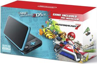 New Nintendo 2ds Xl Negro Celeste Mario Kart 7