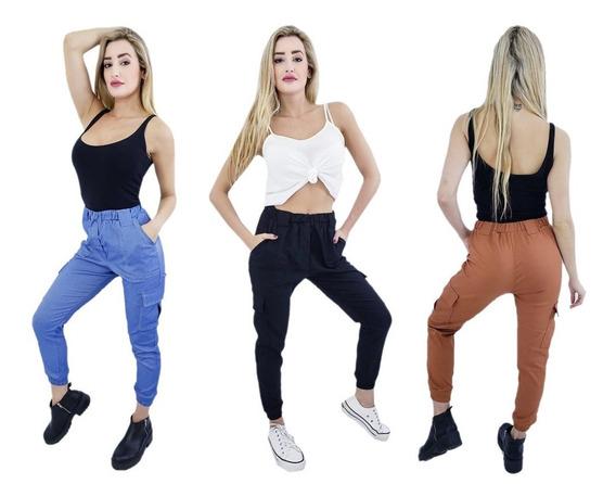 Pack Promo Combo Mayorista X 6 Pantalones Cargo De Mujer