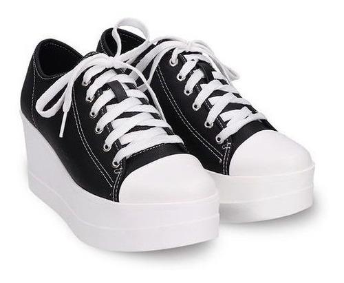 Imagen 1 de 10 de Tenis Sneaker Plataforma 7cms Felipe Rentería Tallas22-27mx