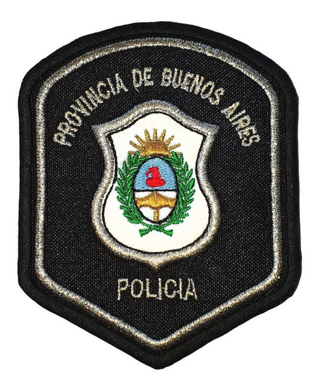 Escudo Bordado Policía De Provincia Buenos Aires Parche