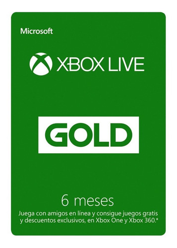 Imagen 1 de 1 de Membresia Xbox Live 6 Meses ! Codigo Original!