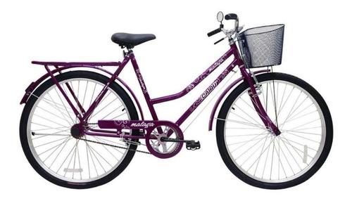 Bicicleta Cairu 26 Malaga R Dup C/ct Fem Violeta