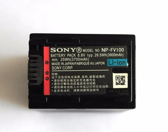 Sony Np-fv100 Bateria Recarregável Para Filmadora Original