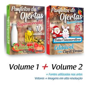 Panfleto De Mercado Editável Em Corel Draw Vol 1 + Vol 2