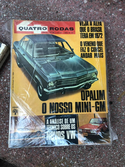 Quatro Rodas 129 Charger R/t 71 Verde Tropical Corcel Alfa