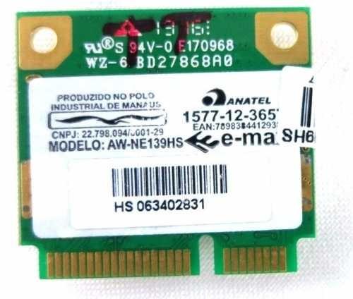 Pci Wireless Notebook Aw-ne139hs + Antena Wireless