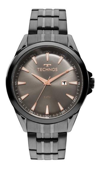 Relógio Masculino Technos Classic Grafite 2115lat/4c