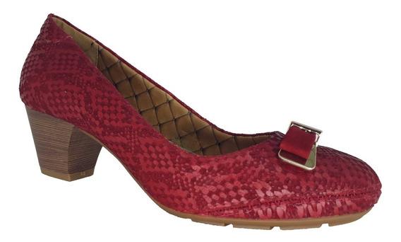 Sapato Feminino Salto Baixo Couro Bottero 20% Off