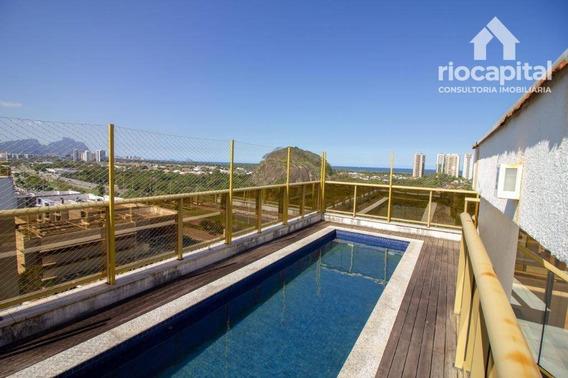 Cobertura Com 3 Quartos Para Alugar, 290 M² Por R$ 5.500/mês - Barra Da Tijuca - Rio De Janeiro/rj - Co0171