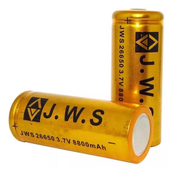 10 Bateria 26650 3,7v 8800mah Original Jws Lanterna Holofote