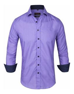 Camisa Entallada Slim Fit Elast Z414 - Quality Import Usa