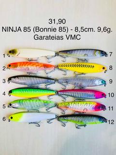 3 Iscas Pesca Artificial Ninja 85 Varias Cores A Escolher