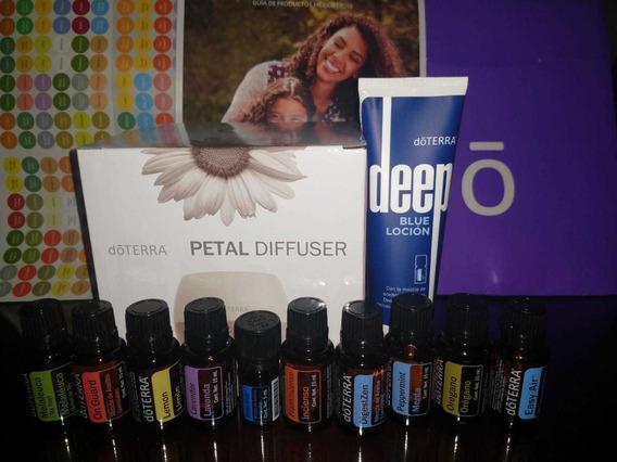 Promocion Kit Doterra Premium + Difusor Petal+cremadeepblue