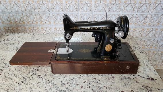 Maquina Costura Antiga Singer Made Grã Bretanha Anos 20/50