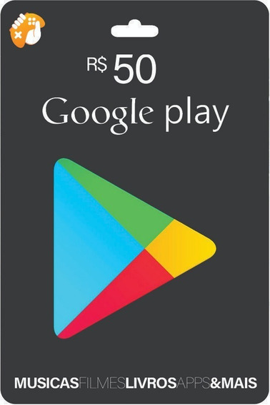 Gift Card Google Play Store R$ 50 Reais Android Brasil Br