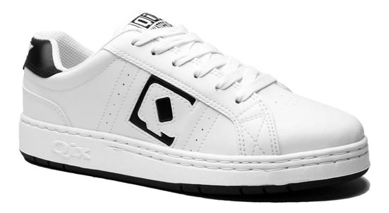 Tênis Qix Combat Clássico Branco Estilo Sneaker Original Modelo Anos 90 Relançamento