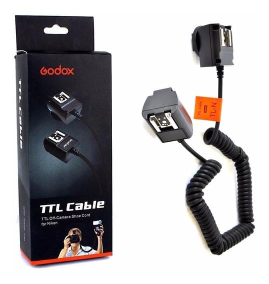 Cabo Ttl Para Flash Nikon Com 3 Metros - Ap-tln Godox