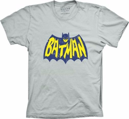 Camiseta Batman Logo Retro Vintage