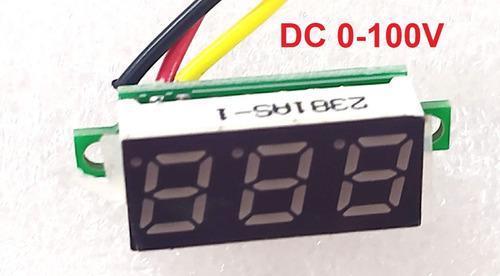 Voltimetro Digital 7 Segmentos 0v A 100v Dc Pelv