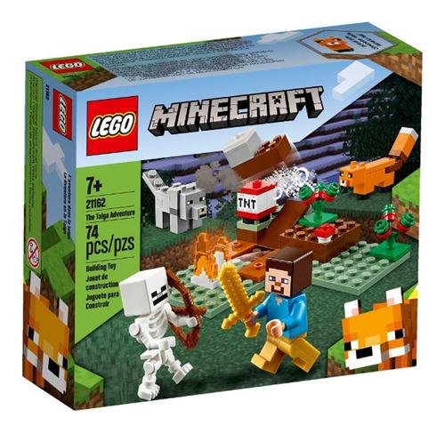 Imagem 1 de 4 de Lego Minecraft - A Aventura Em Taiga - 21162 - Lego