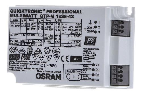 Balasto Electronico Qtm 1x26-42w  Apto Desde 18w Osram Multi