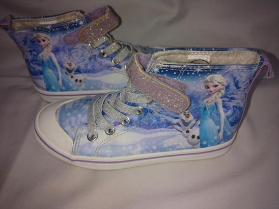 Botitas Con Abrigo Frozen De Disney- Talle 30
