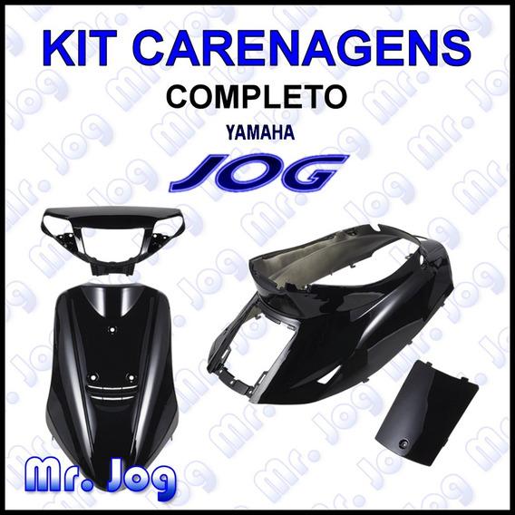 Kit Completo Carenagens Yamaha Jog 50 Preto 50cc Jog50 Novas