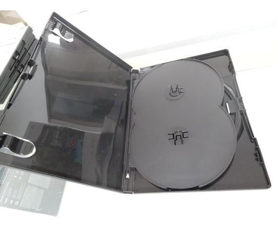 Box Estojo Gamer Capa Dvd Black 3 Slots 10 Peças