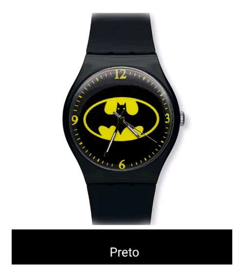 Relogio Masculino Super Heroi Batman Barato