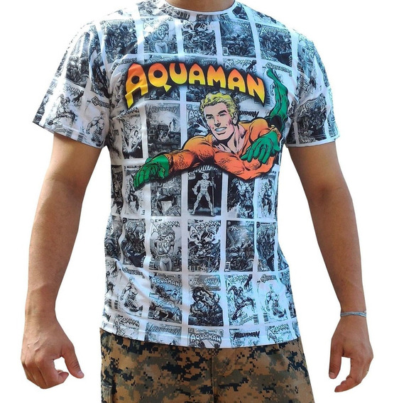 Camiseta Heróis Aquaman Superman Batman Coringa Thor Hulk +