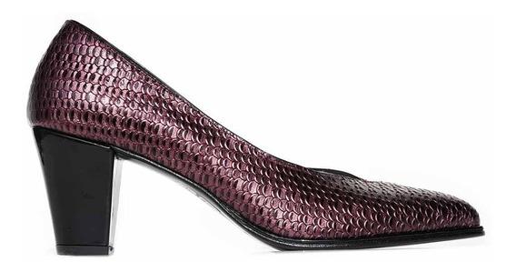Zapato Stilleto Mujer Briganti Vestir Taco Cuero - Mccz33025