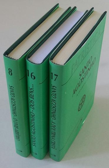 Kit C/ 3 Livros De Santo Agostinho