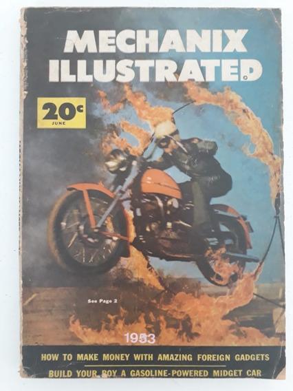 Revista Mechanix Illustrated Ano 1953 Raro Coleção
